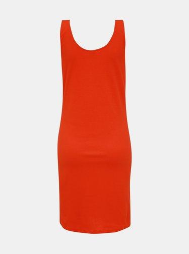 Oranžové žebrované šaty Jacqueline de Yong Nevada