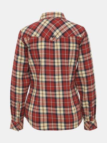 Červená dámska kockovaná košeľa BUSHMAN Mineola