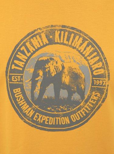 Žluté pánské tričko BUSHMAN Hanover
