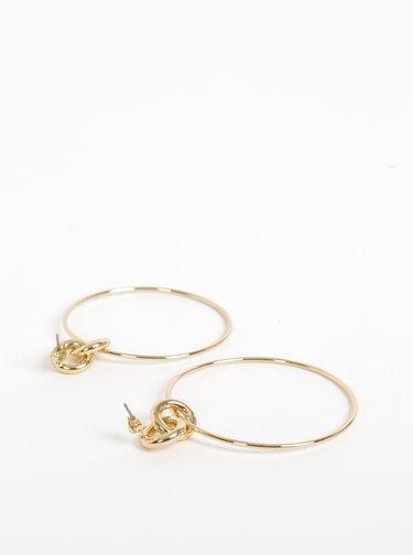Náušnice v zlatej farbe Pieces Irem