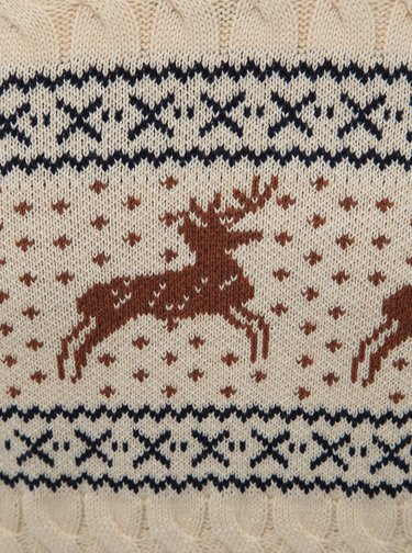 Béžový vzorovaný svetr Selected Homme Reindeer