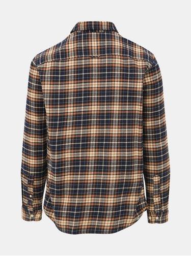 Modro-béžová kockovaná košeľa Selected Homme Regjaxx