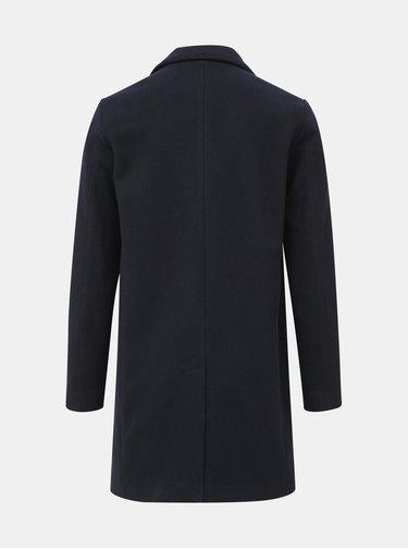 Tmavě modrý vlněný kabát Selected Homme Brove