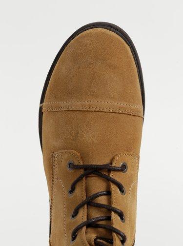 Hnedé semišové zimné kotníkové topánky Selected Homme Terrel