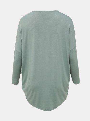 Svetlozelené tričko ONLY CARMAKOMA Carma