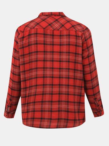 Červená kostkovaná košile ONLY CARMAKOMA River