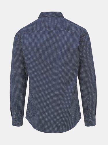 Tmavě modrá vzorovaná slim fit košile ONLY & SONS Alves