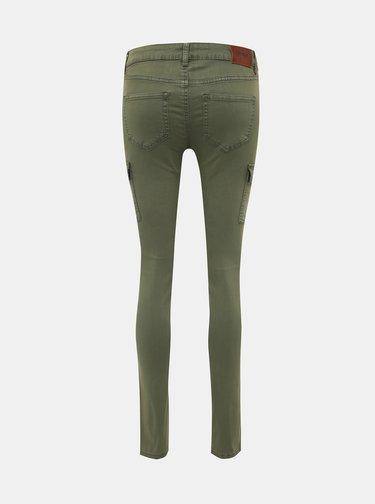 Kaki skinny fit nohavice s vreckami ONLY Cece-Bibi