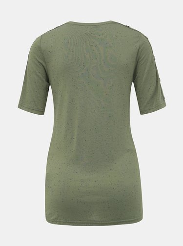 Zelené vzorované těhotenské tričko Mama.licious Sibby