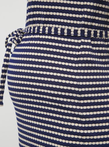 Tmavomodré vzorované tehotenské šaty Mama.licious Aluna