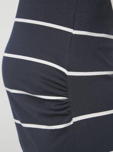 Tmavě modré pruhované těhotenské basic maxišaty Mama.licious Ally