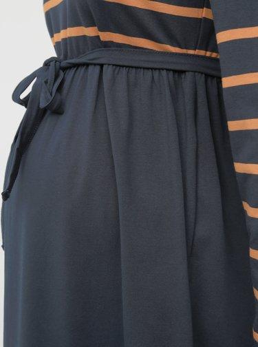 Tmavomodré pruhované tehotenské šaty Mama.licious Madelleine
