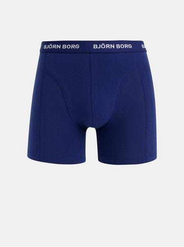 Sada piatich boxeriek v modrej, čiernej, bielej a červenej farbe Björn Borg Flower Solid
