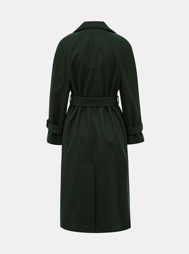 Tmavě zelený kabát Dorothy Perkins Petite