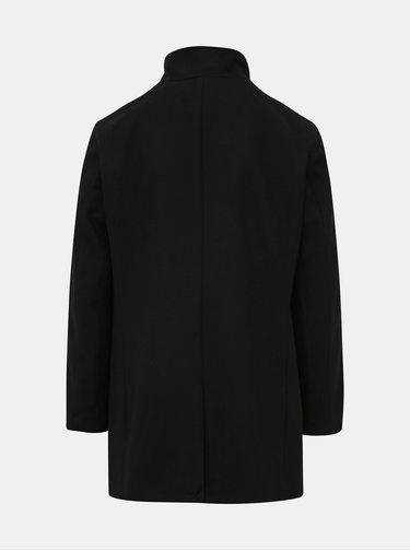 Čierny vlnený kabát Selected Homme Mosto