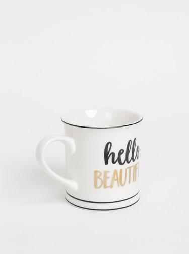 Biely hrnček Sass & Belle Hello Beautiful 400 ml