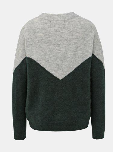 Šedo-zelený sveter VERO MODA Rana