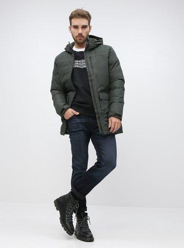 Tmavošedá pánska zimná bunda adidas Performance Xploric