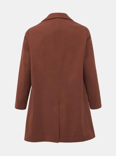 Hnedý kabát Dorothy Perkins Curve