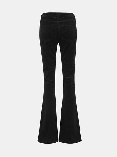Černé manšestrové flared fit kalhoty Dorothy Perkins Tall
