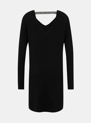 Černé svetrové šaty VERO MODA Janiel