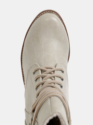 Šedé dámske zimné členkové topánky s.Oliver