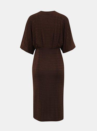 Tmavě hnědé  šaty VERO MODA Doreen