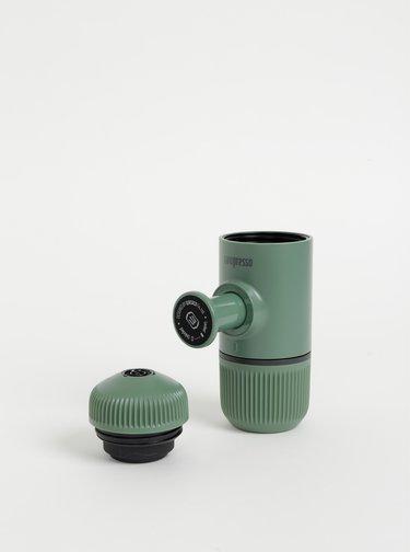 Zelený prenosný kávovar s púzdrom Wacaco Nanopresso 80 ml