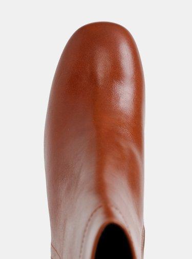 Hnedé dámske kožené kotníkové topánky Vagabond Nicole