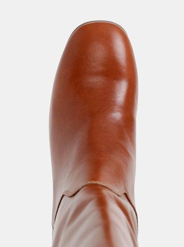 Hnedé kožené čižmy Vagabond Nicole