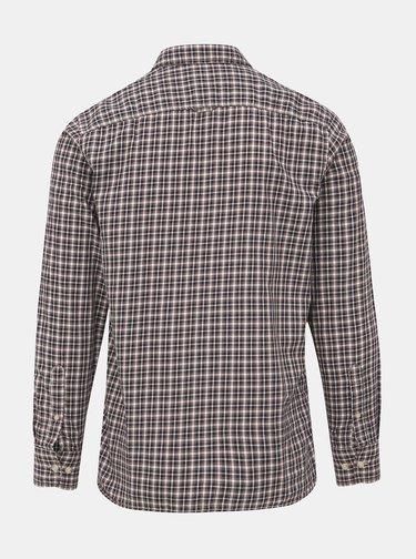 Hnedá kockovaná slim fit košeľa Jack & Jones David