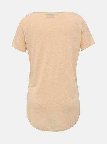 Marhuľové basic tričko VERO MODA Lua