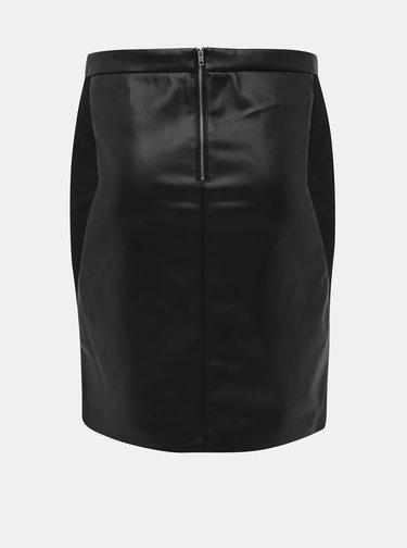 Černá koženková sukně ONLY CARMAKOMA Bea