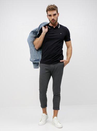 Čierna pánska polokošeľa Calvin Klein Jeans
