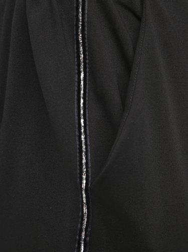 Černé kalhoty s lampasem Zizzi Addison