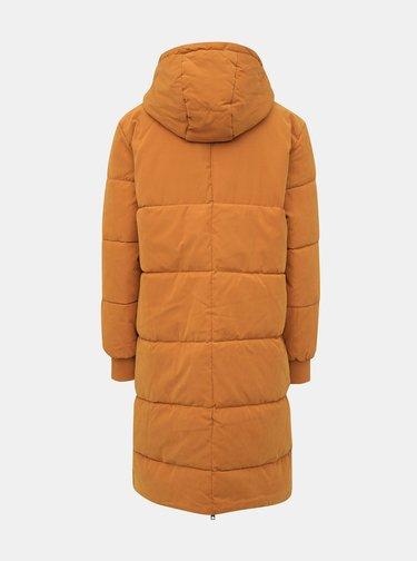 Hořčicový zimní prošívaný kabát Jacqueline de Yong Noble