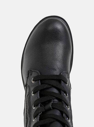 Čierne členkové zimné topánky Tamaris