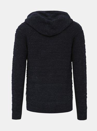 Tmavomodrý sveter na zips Jack & Jones Pedro
