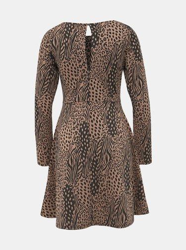 Hnedé šaty so zvieracím vzorom Dorothy Perkins