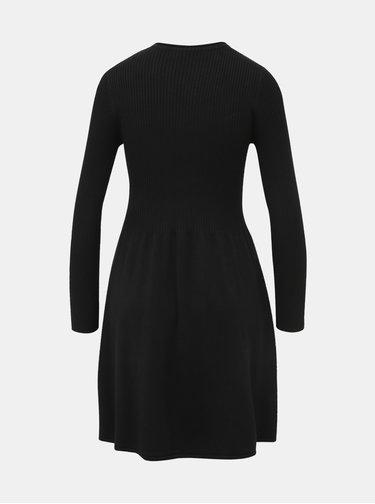 Čierne svetrové šaty ONLY Alma