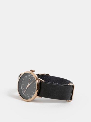 Dámské hodinky s černým páskem z veganské kůže CHPO Harold Mini