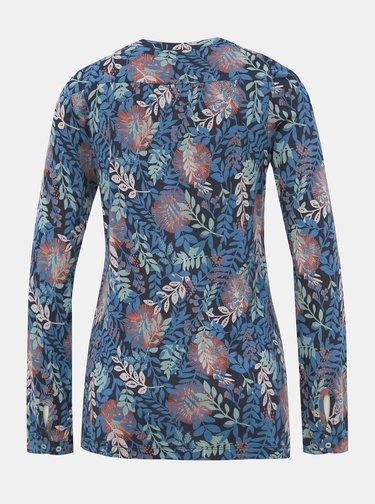 Modré kvetované tričko Brakeburn Falling
