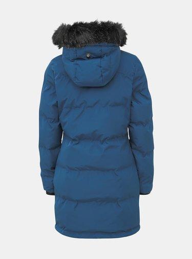 Modrý dámsky prešívaný vodeodolný zimný kabát killtec Callena