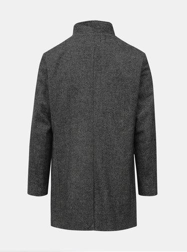 Tmavošedý vlnený kabát Selected Homme Mosto
