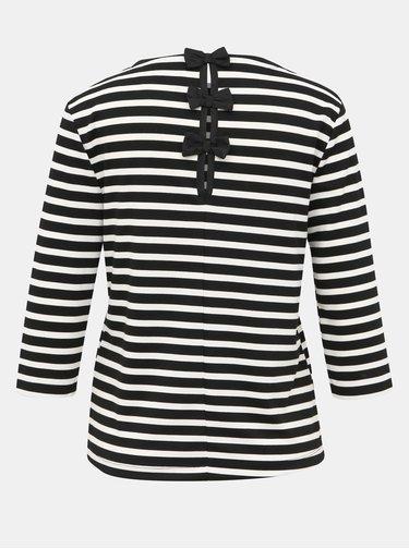 Čierno-biele pruhované tričko ONLY Amanda