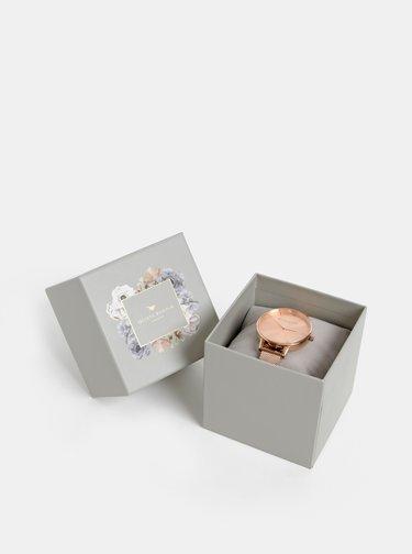 Dámske hodinky s kovovým remienkom v ružovozlatej farbe Olivia Burton