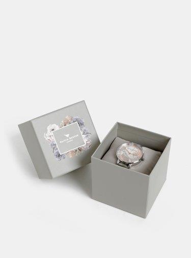 Dámské hodinky s kovovým páskem ve stříbrné barvě Olivia Burton