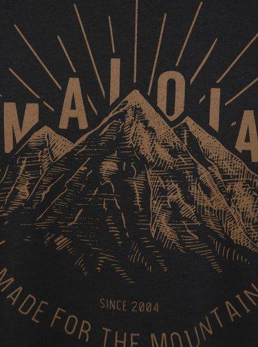 Čierne pánske tričko s potlačou Maloja Giandains