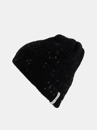 Černá dámská čepice s příměsí vlny Maloja Annotta