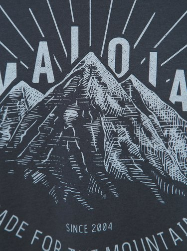 Tmavomodré pánske tričko s potlačou Maloja Giandains